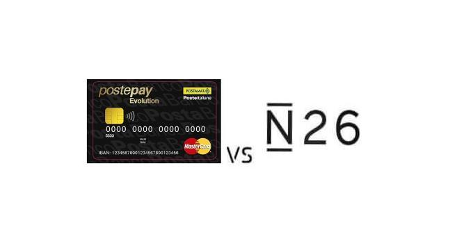Confronto N26 vs PostePay Evolution